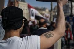 Dimanche 12 Mars 2017, place de la République à Paris. Une cinquantaine de Coptes Egyptiens se sont rassemblés pour dénoncer les violences et harcèlements dont leurs familles sont victimes en Egypte.
