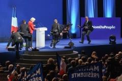 Zénith de Paris le 17 avril 2017.Meeting de Marine Le Pen à six jours du premier tour des élections présidentielles.