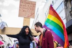Manifestation Existrans le 8 octobre 2016 à Paris pour la reconnaissance des droits des personnes transexuelles et intersexes.