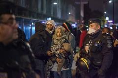 Démantèlement des campements du Nord-Est parisien le 4 novembre 2016.