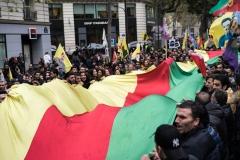 Manifestation kurde en opposition au président Erdogan à Paris le 5 novembre 2016.