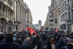 Paris le 28 Janvier 2017Après plus d'un an d'état d'urgence, des centaines de manifestants sont descendus dans la rue pour dénoncer violences policières, répression, attitude face aux migrants, mort d'Adma Traoré...entre la place de La République et celle du Chatelet.
